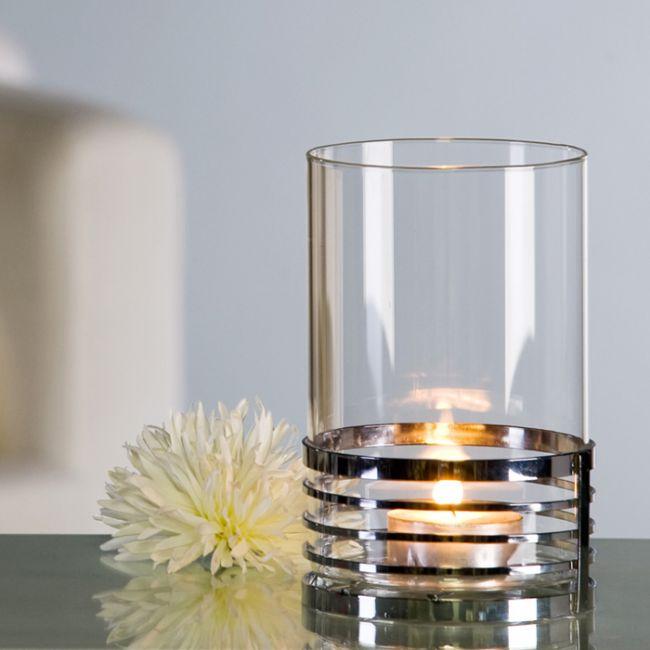 windlicht mercury basis aus metall gl nzend mit klarem glaseinsatz von casablanca wanduhren. Black Bedroom Furniture Sets. Home Design Ideas